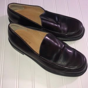 J. Crew Dark Brown Italian  Leather Loafer size 10